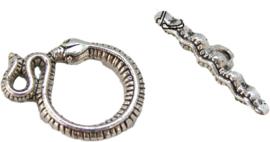 02090 Kapittelslot slang Antiek zilver 23mmx15mm 3 stuks