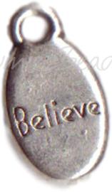00091 Bedel Believe Antiek zilver (nikkel vrij)
