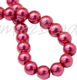 04021 Glasparel Crimson 3-4mm; gat 0,5mm 1 streng ±30cm