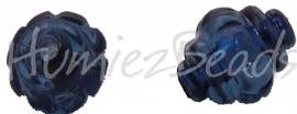 00909 Acryl kraal Lampion Blauw 12mmx10mm 15 stuks