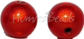 03369 Acryl kraal miracle Oranje 12mm; gat 2mm 6 stuks