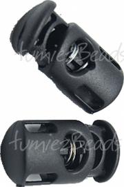 00030 Slot parakoord rond plastic Zwart 27mmx14mm  3 stuks