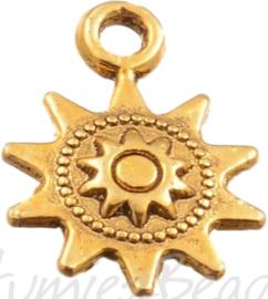 01794 Bedel zon Antiek goud (nikkelvrij) 17mmx12mm 1 stuks