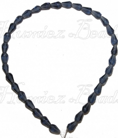 03274 Glaskraal streng (±30cm) Paars 10mmx6,5mm 1 stuks