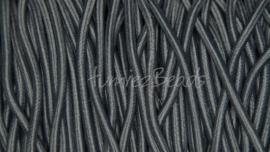 E-0040 Elastiek Donker grijs 3mm 1 meter
