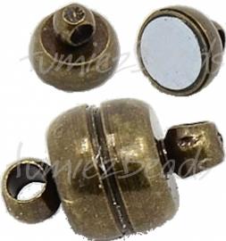 00847 Magneetslot Antiek brons 11mmx7mm