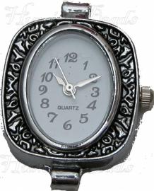 01483 Horloge Antiek zilver  1 stuks
