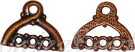 02327 Verdeler kledinghanger Antiek koper (Nikkelvrij) 12mmx15mmx2mm; oog 1,5mm 6 stuks