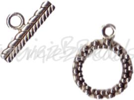 00018 Kapittelslot ornaat beslagen Tibetaans zilver
