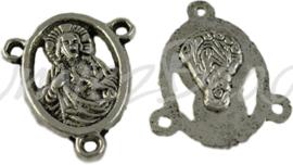 03289 Tussenstuk religieus Antiek zilver (Nickel vrij) 18mmx15mmx2,5mm; gat 1,5mm