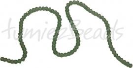 01420 Glaskraal imitatie swarovski faceted Abacus streng (±20cm) Groen 4mmx6mm 1 streng