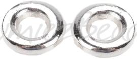 02574 Gesloten ring Zilverkleurig 8mmx2mm; gat 3,5mm ±15 stuks