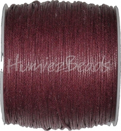 W-0013 Waxkoord Rood-bruin ±70 meter