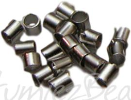 00705 Knijpkraal buis Metaalkleurig 1,5mm 2gram