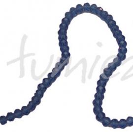 01422 Glaskraal imitatie swarovski faceted Abacus streng (±20cm) Blauw 4mmx6mm 1 streng
