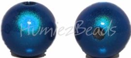 03379 Acryl kraal miracle Donker blauw 12mm; gat 2mm 6 stuks