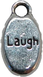 01566 Bedel Laugh Antiek zilver (nikkelvrij) 15mmx8mm