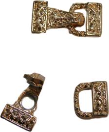 01610 Magneet-haakslot Tas Goudkleurig (nikkelvrij)  28mmx14mm 1 stuks