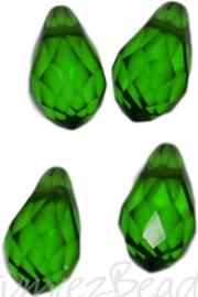 04337 Glaskraal druppel Groen 4 stuks