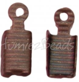 03161 Veterklem Antiek brons (Nickel vrij) 13mmx5mm 11 stuks