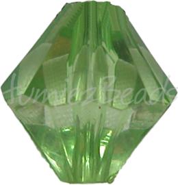 00022 Acryl kraal bicone Groen 14mm 7 stuks