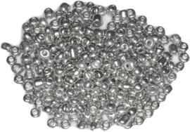 04416 Rocailles  / kleine kraal Platinum plated Mixed 20gram