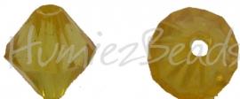 00439 Acryl kraal facet Geel 9mmx7mm 20gram