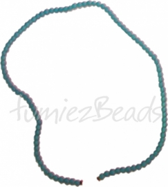 03582 Glaskraal streng (±40cm) frosted Blauw 4mm 1 streng