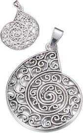 04443 Bedel Slak Antiek zilver (Nikkelvrij) 70mmx52,5mmx2,5mm; Gat 5mmx9,5mm 1 stuks