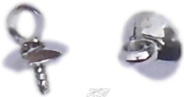 02330 Schroefoog pin met kapje Metaalkleurig 7x5mm; gat 1,5mm 3 stuks