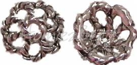 00168 Kralenkap draad Antiek zilver (Nikkel vrij) 4mmx9mm 12 stuks