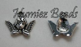 03049 Bedel engel Antiek zilver (Nikkelvrij) 16mmx19mm