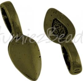 02503 Plakoog voor hangers (glue on bail) Antiek brons (Nikkelvrij) 6 stuks