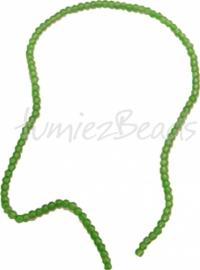 03581 Glasperle strang (±40cm) frosted Grün 4mm 1 strang
