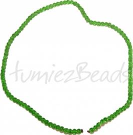 03564 Glaskraal streng (±40cm) crackle Groen 4mm 1 streng