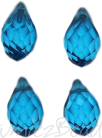 04346 Glaskraal druppel Licht blauw 4 stuks