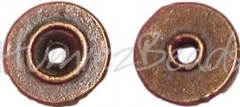 00803 Spacer revet Antiek brons 2mmx9mm; gat 2mm 20 stuks