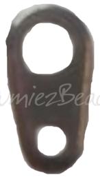 04137 Verbindingsstukje 2-gaats Zwart (Nikkelvrij) 7mmx4mm~2mm; gat 1mm~3mm ±20 stuks