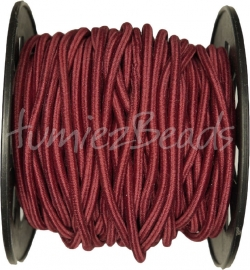 E-0039 Elastiek Bordeauxrood 3mm 8 meter