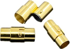 03492 Magneetslot Goudkleurig 17mmx7mm; gat 6mm 1 stuks