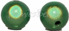 03380 Acryl kraal miracle Groen 12mm; gat 2mm 6 stuks