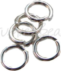 00778 Ringetjes zware kwaliteit Zilverkleurig 5mmx1mm 85 stuks