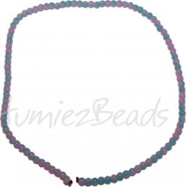 03452 Glasperle strang ±40cm Jelly Blau-pink 4mm 1 strang
