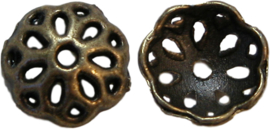 01906 Kralenkap vergiet Brons (Nikkelvrij) 4mmx10mm 7 stuks