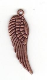00307 Bedel Vleugel Antiek koper (Nickel vrij) 30mmx10mm