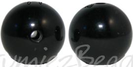 00707 Acryl kraal gepolijst Zwart 18mm 6 stuks