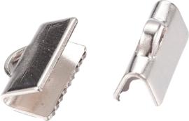 02297 Bandklem  Metaalkleurig (Nikkelvrij) 10mmx7mm; gat 1mmx3mm 7 stuks