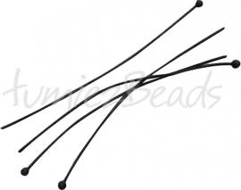 03712 Nietstift bal Zwart (Nikkelvrij) 45mmx0,5mm ±30 stuks