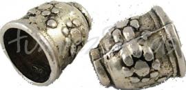 00991 Eindkap cone Antiek zilver (Nikkelvrij) 9mmx10mm  4 stuks