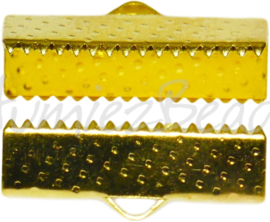02215 Bandklem Goudkleurig (Nickel vrij)  6 stuks